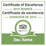 SeuXerea TripAdvisor Certificate of Excellence for 2013